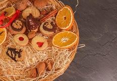 Confetteria ceca di natale del homade con l'arancia e la cannella Fotografia Stock Libera da Diritti