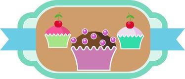 Confetteria dei dolci dei dolci dei muffin Fotografia Stock