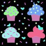 Confetteria dei dolci dei dolci dei muffin Immagine Stock Libera da Diritti