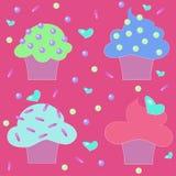 Confetteria dei dolci dei dolci dei muffin Fotografia Stock Libera da Diritti