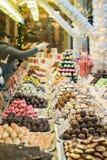 Confetteria sul mercato di natale Immagini Stock Libere da Diritti