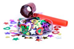 confetti воздуходувки Стоковое фото RF
