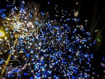 Confetti в небе Стоковое Фото