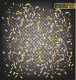 Confetti золота и серебра Праздничный декоративный элемент для поздравительных открыток Стоковые Изображения