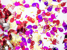 Confetti и ленты торжества тематические Стоковое Изображение RF