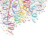 Confetti и ленты Стоковые Фотографии RF