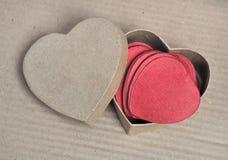Confetti и рециркулированное сердце Стоковое Изображение