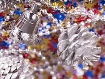 confetti конуса рождества колокола предпосылки Стоковое фото RF