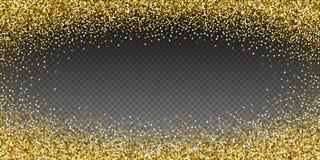 Confetti круглого яркого блеска золота роскошный сверкная scat иллюстрация вектора
