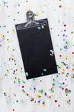 Confetti масленицы на деревянной предпосылке Стоковые Фото
