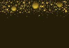 confetti предпосылки золотистый Стоковое Фото