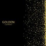 confetti предпосылки золотистый Стоковая Фотография