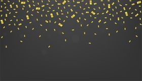 confetti предпосылки золотистый Стоковые Изображения