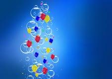 confetti пузыря воздушного шара Стоковое Изображение