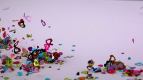 Confetti сердца дует прочь видеоматериал