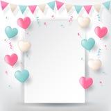Confetti с лентами и воздушными шарами овсянок бесплатная иллюстрация