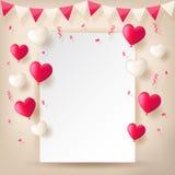 Confetti с лентами и воздушными шарами овсянок иллюстрация штока