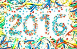 Confetti текста масленицы 2016 Стоковое Изображение RF