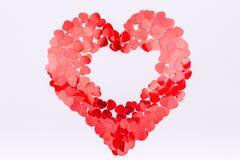 Confetti яркого блеска сердца форменный Принципиальная схема дня Валентайн Ультрамодная минута стоковое изображение