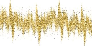 Confetti яркого блеска треугольников золота роскошный сверкная иллюстрация вектора