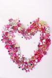 Confetti 1 do coração Imagens de Stock Royalty Free