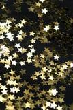 Confetti. Color confetti on a black background Stock Image