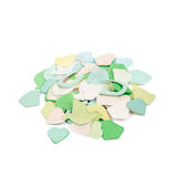 Confetti. Small pile of confetti isolated on white Stock Photography