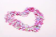 Confetti 2 do coração Fotografia de Stock Royalty Free