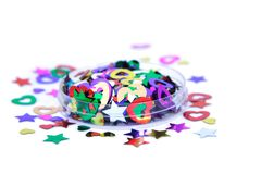 Confetti. Colorful confetti Stock Photos