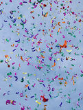 Confetti. On the air against blue sky Royalty Free Stock Image