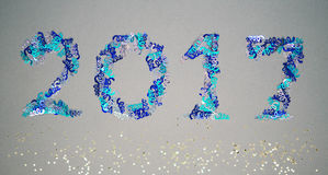 2017 confetti Zdjęcia Royalty Free