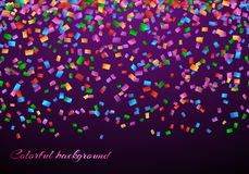 Confetti in air pattern. Anniversary celebration background with confetti party Stock Image