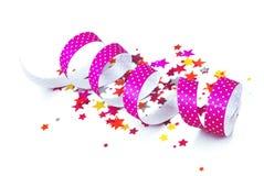 Confetti And Ribbon Royalty Free Stock Image