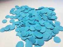 Confetti azul Fotografia de Stock Royalty Free