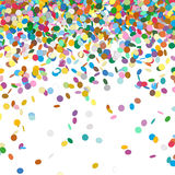 Confetti Background Template - Falling Chads Backdrop. Vector Illustration royalty free illustration