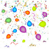 Confetti with Balloons Royalty Free Stock Photo