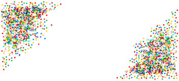 Confetti banner. Birthday, carnival, holidays party decoration Royalty Free Stock Photos
