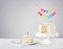 Confetti Birthday Cake Royalty Free Stock Images