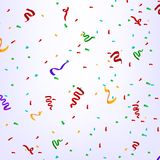 Confetti in birthday party Stock Photography