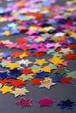 Confetti on black Royalty Free Stock Photography