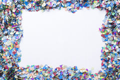 Confetti on a blank background royalty free stock image