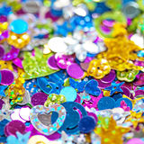 Confetti bright colorful holiday background Royalty Free Stock Image