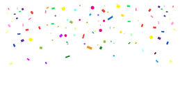 Confetti. Bright confetti Pattern for Carnival, Festival, Masquerade Mardi Gras invitation background design. Vector Stock Images