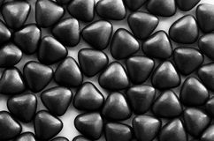 Confetti candies bon bons with the shape of a heart Stock Images