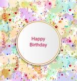 Confetti Card for Happy Birthday Royalty Free Stock Photos