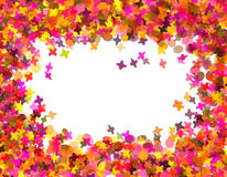 Confetti carnival. Against white background Royalty Free Stock Images