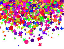 Confetti carnival Stock Images