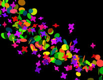 Confetti carnival. Isolated on black Stock Image