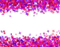 Confetti carnival. Frame isolate on white Royalty Free Stock Image