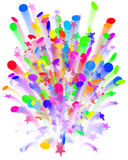 Confetti carnival explosion royalty free stock photos